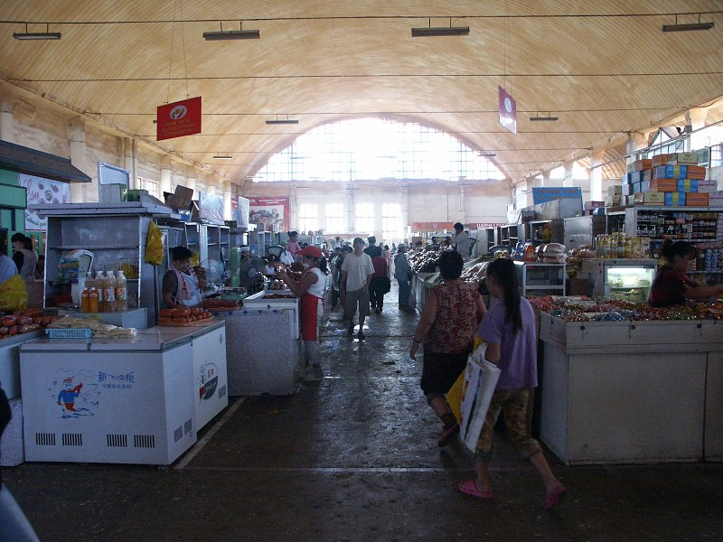 the indoor foodmarket at the suhbaatar marketsquare.