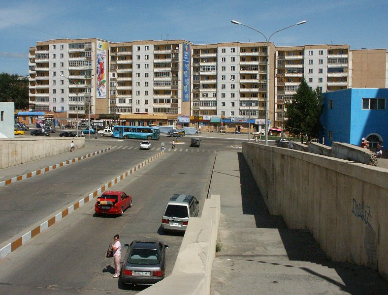 zaluuchuud avenue, away from the city centre.
